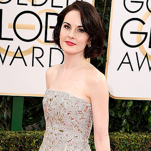 Michelle Dockery Dress on Golden Globes 2014 Red Carpet