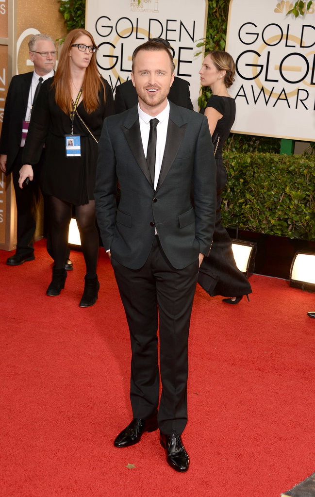 Aaron Paul arrived for his big night at the event.