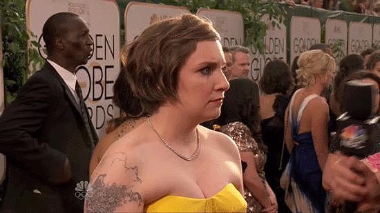 Lena Dunham Made an Amazing Red Carpet Face