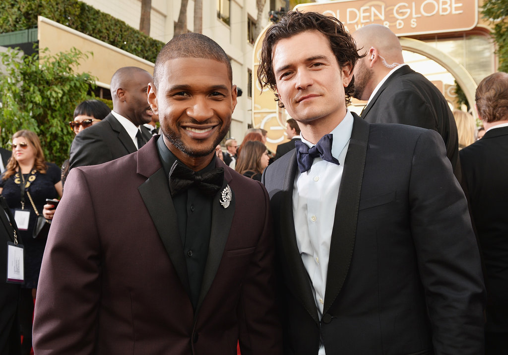 Hot Guys Usher and Orlando Bloom Made an Appearance