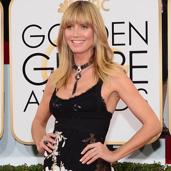 Heidi Klum's Dress on Golden Globes 2014 Red Carpet