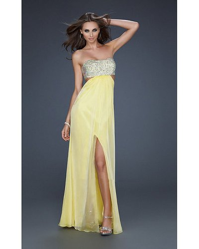 Strapless La Femme 16291 Yellow Long Dress