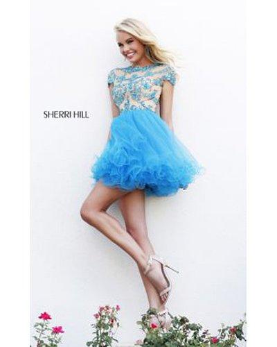 Sherri Hill 21304 Turquoise Prom Dress