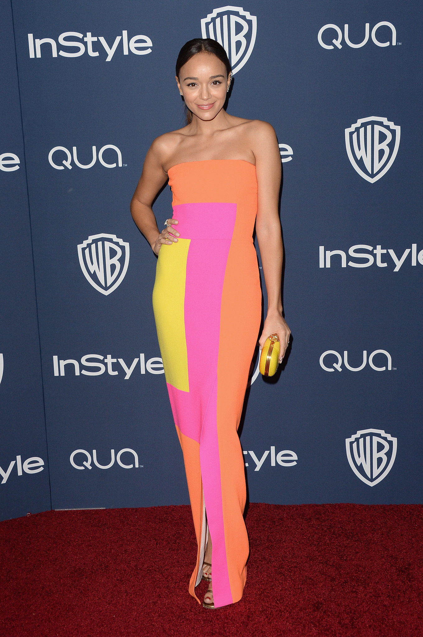 Ashley Madekwe sported a colorful Roksanda Ilincic dress for the afterparty.