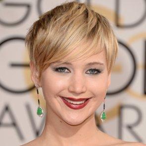 Jennifer Lawrence Hair and Makeup at Golden Globes 2014