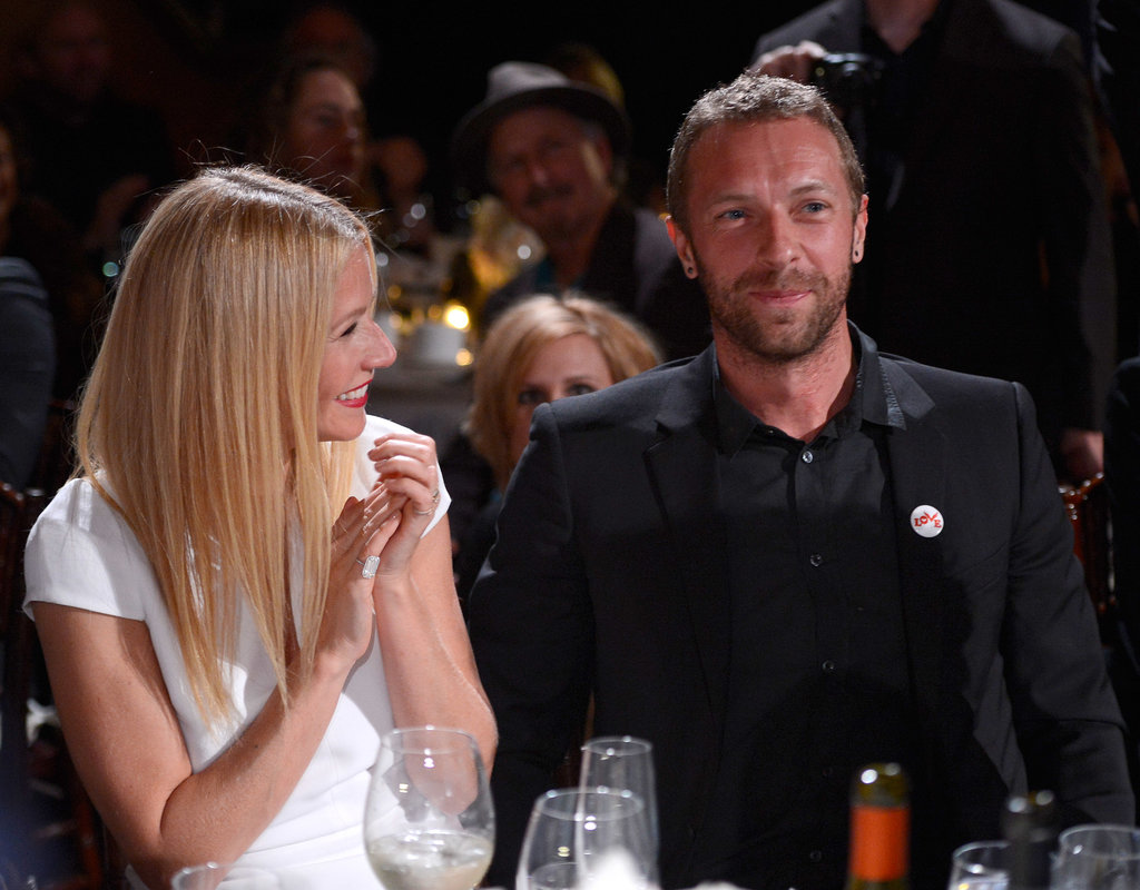 Gwyneth Paltrow clapped for her husband, Chris Martin, on Saturday at the Help Haiti Home bash.