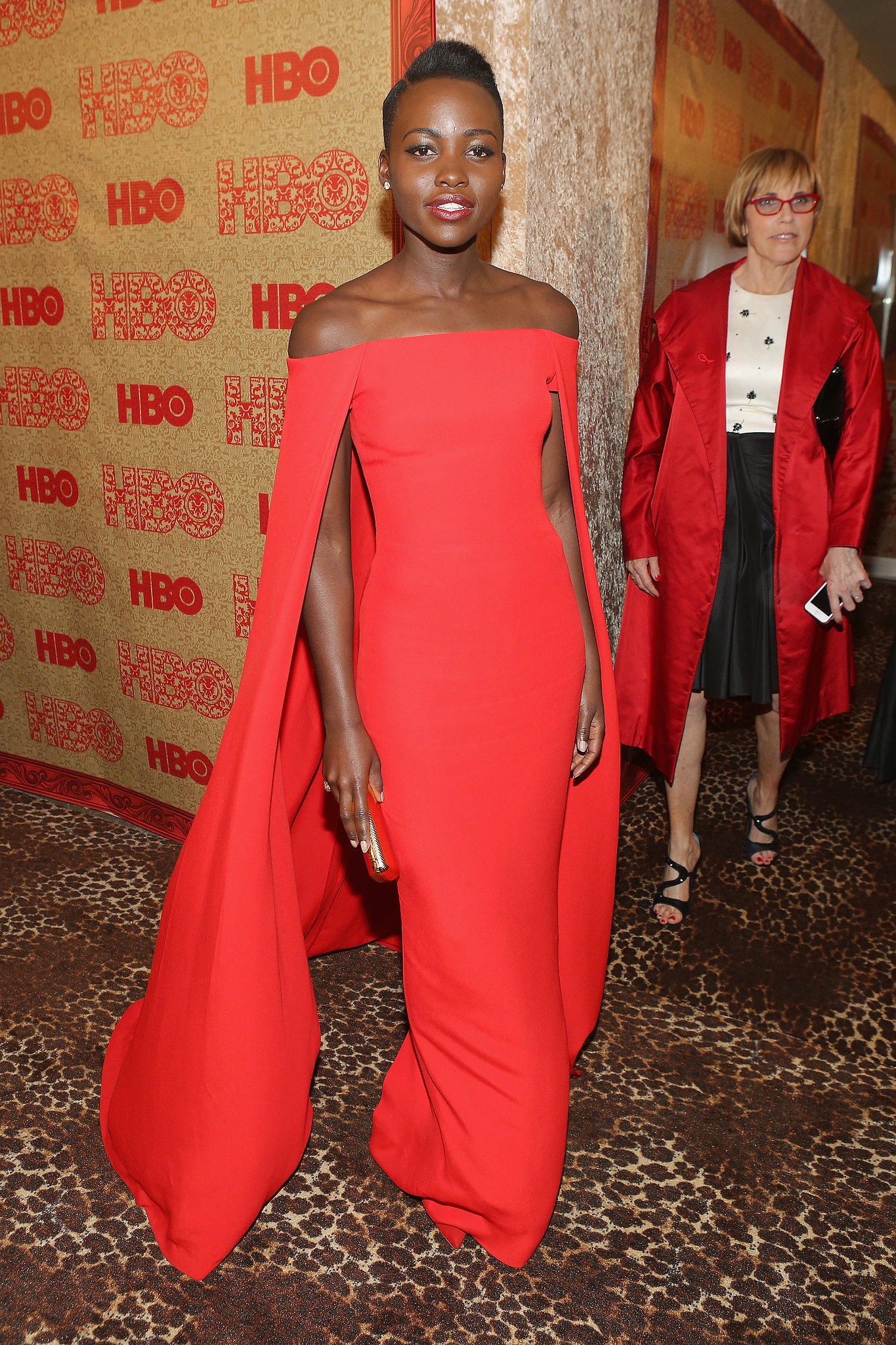 Lupita Nyong'o looked flawless at the HBO party.
