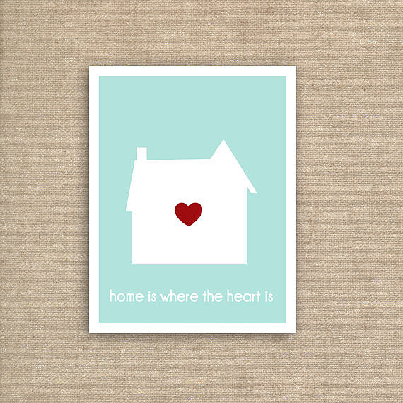 Let your child know they will always find love at home with this inspiring print ($5).