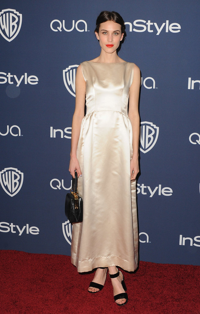 Alexa Chung at the InStyle Golden Globes Afterparty