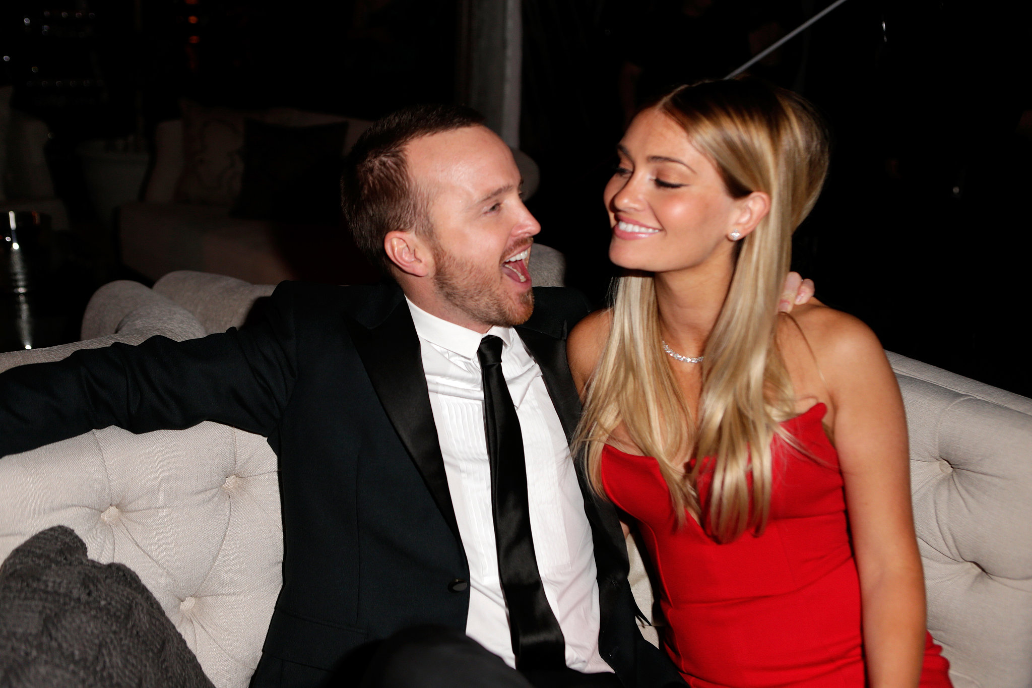 Aaron Paul and his wif...