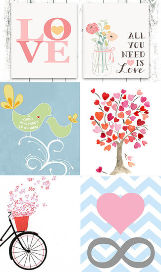 Show Your Kids' Rooms Some Love With Heart-Themed Etsy Art