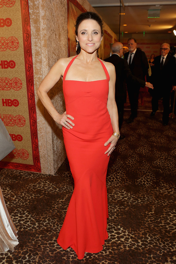 Julia Louis-Dreyfus looked great in red.