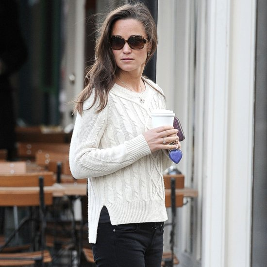 Pippa Middleton's White Cable-Knit Sweater