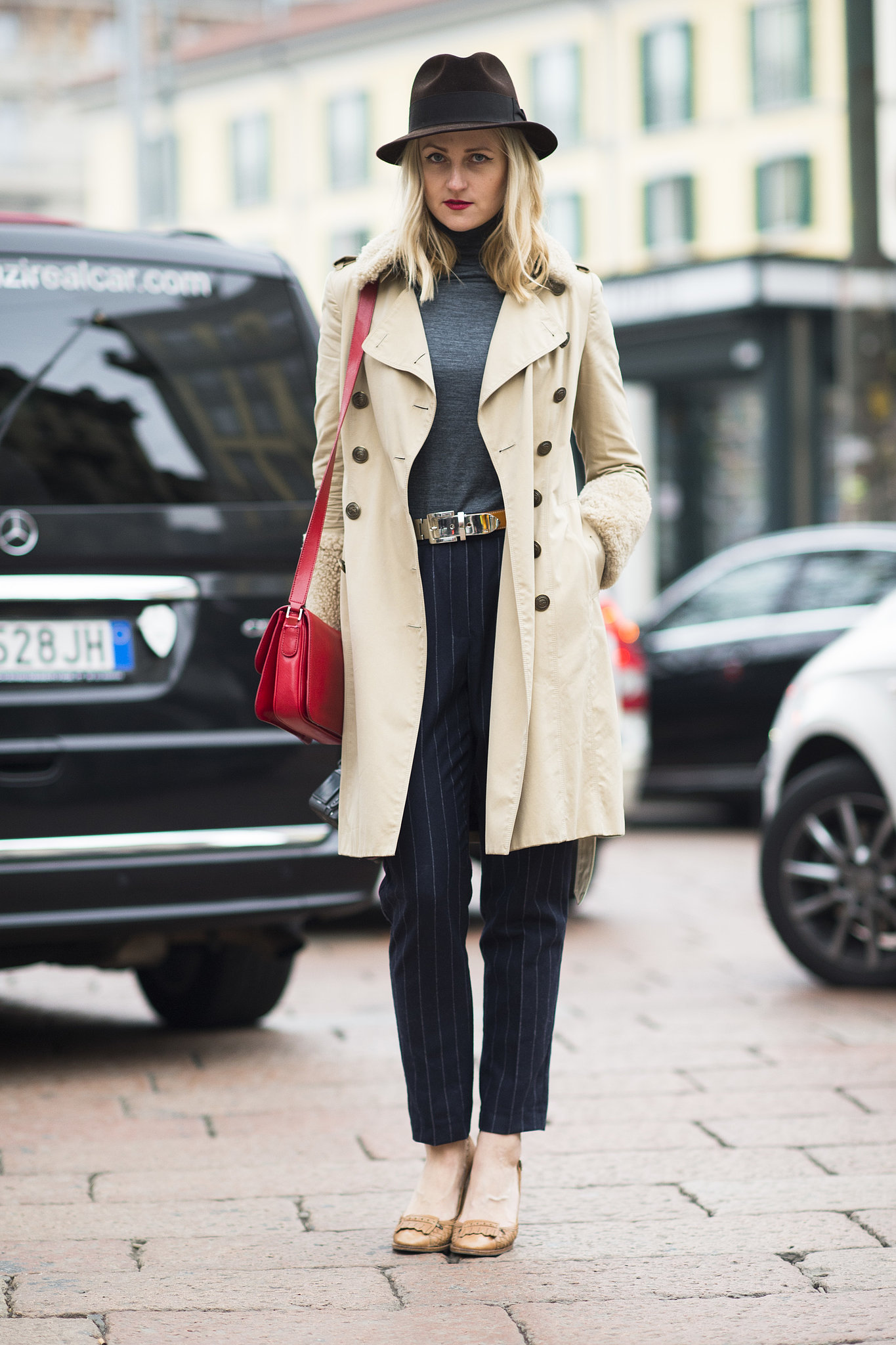 You can't go wrong with a trench coat and pinstripes, even if you're a girl.  Source: Le 21ème | Adam Katz Sinding