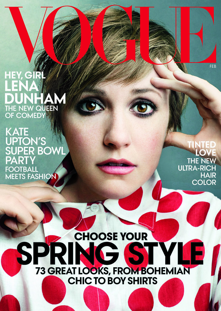 Lena Dunham in Vogue's February 2014 Issue
