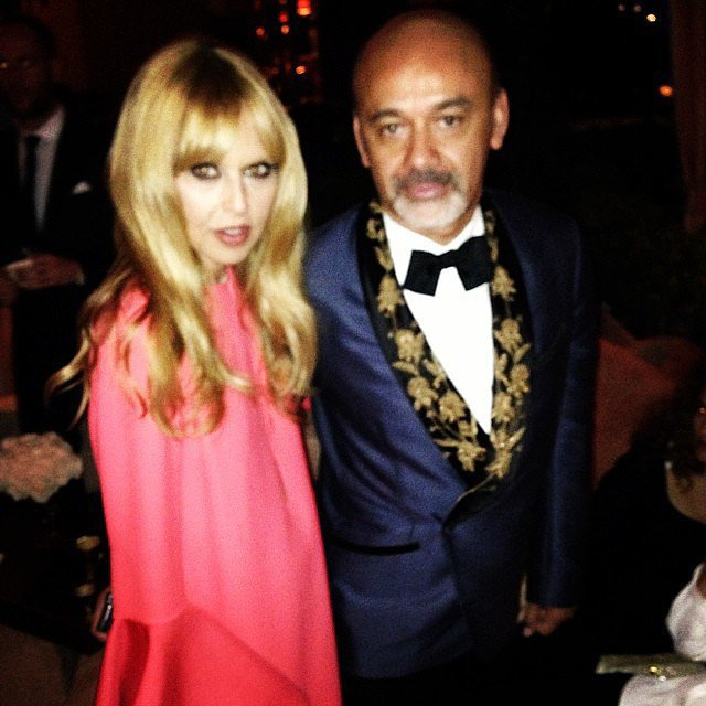Rachel Zoe posed with Christian Louboutin at a Golden Globes afterparty. Source: Instagram user rachelzoe