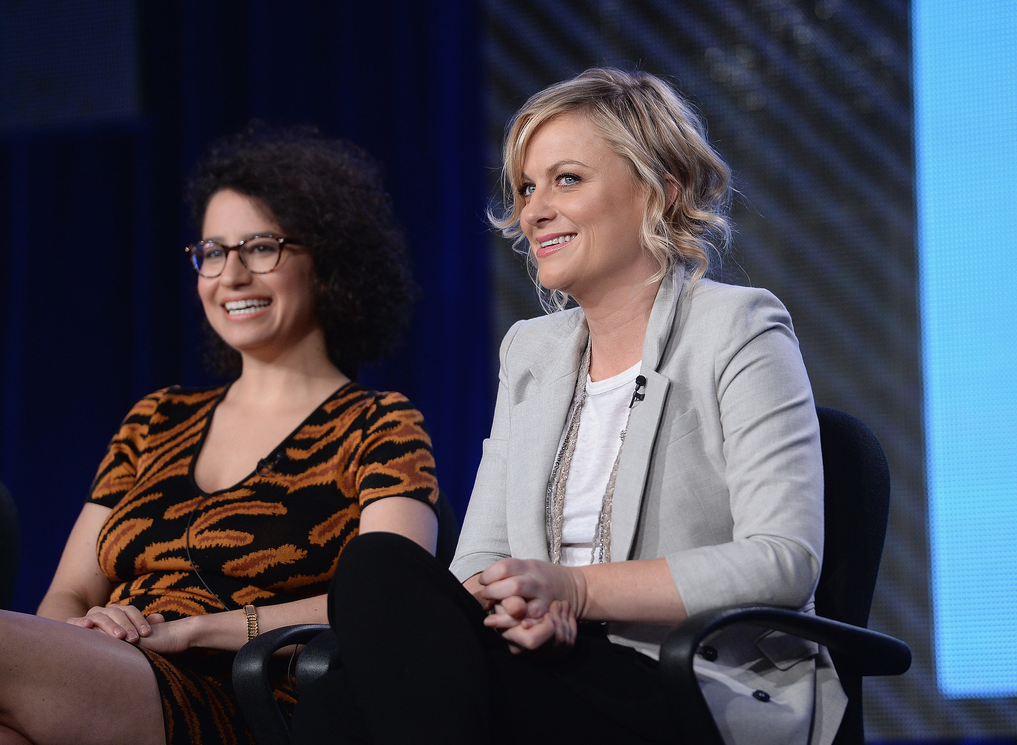 Amy Poehler spoke at the Broad City panel for Comedy Central with star Ilana Glazer.