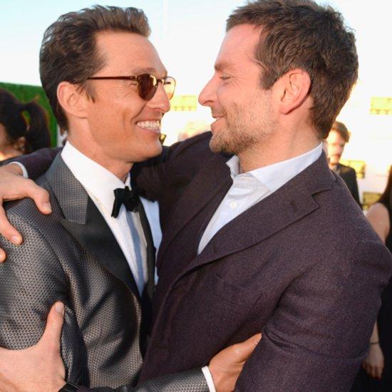 Bradley Cooper Hugs Matthew McConaughey at Critics' Choice