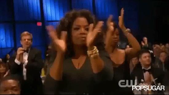 Oprah Gave Lupita Nyong'o a Standing Ovation