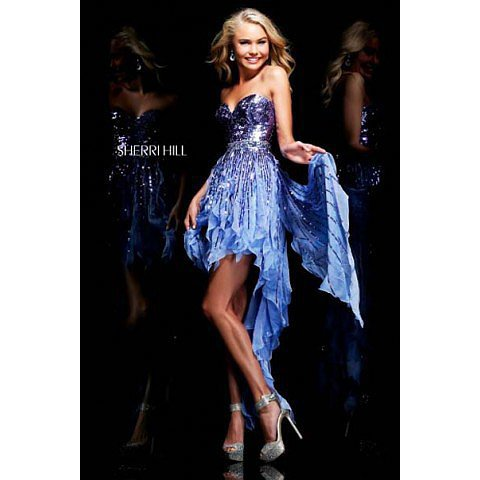 Sherri Hill 1922 Blue Prom Dress