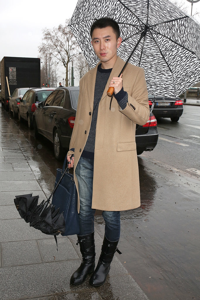 He knows — everyone needs a great camel coat.