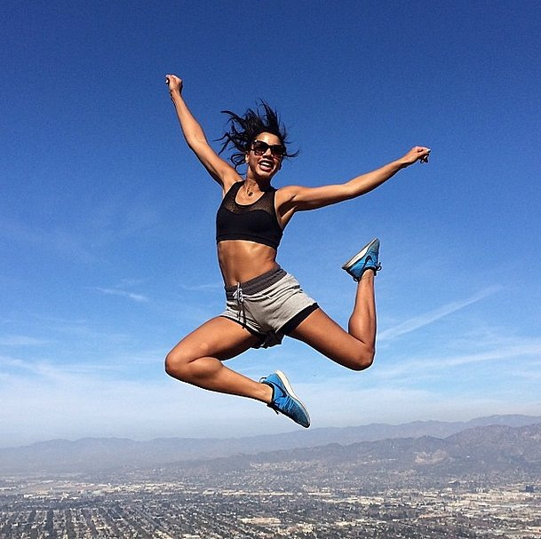 Hannah Bronfman jumped for joy! Source: Instagram user hannahbonfman