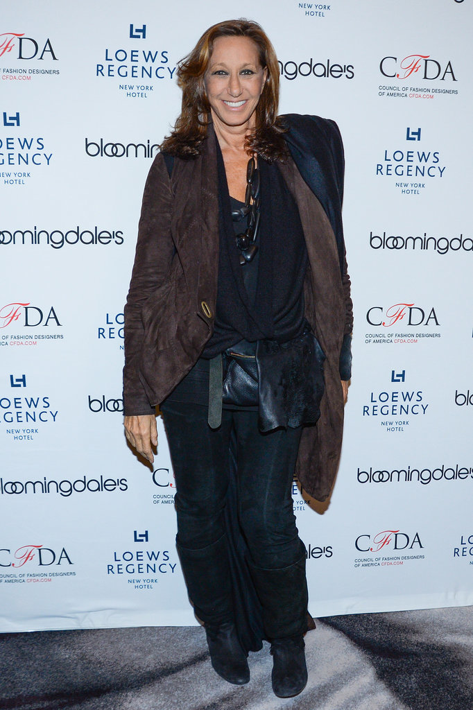 Donna Karan at the Bloomingdale's Super Bowl kickoff with the CFDA.