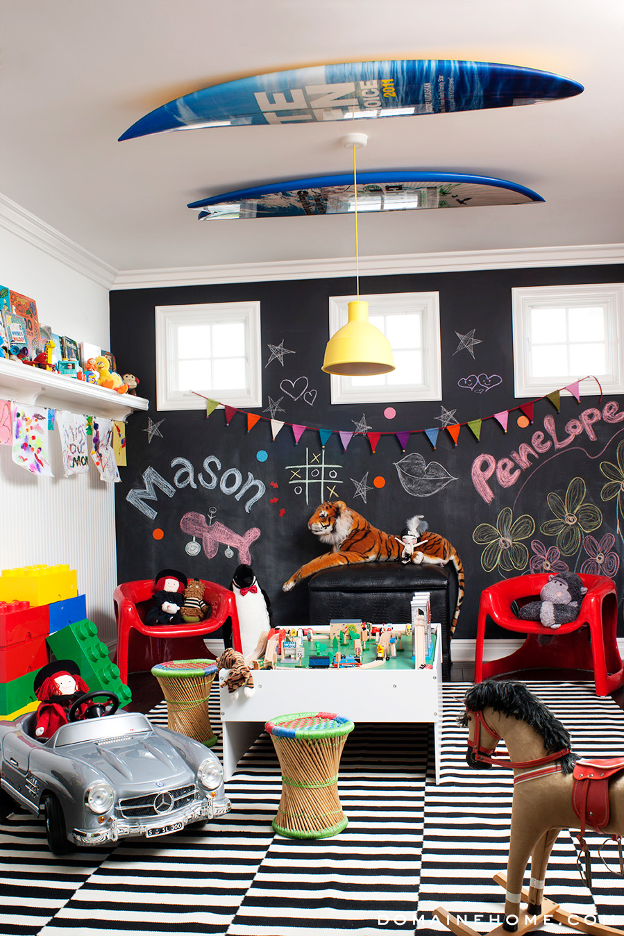 Mason and Penelope Disick's Sleek Playroom