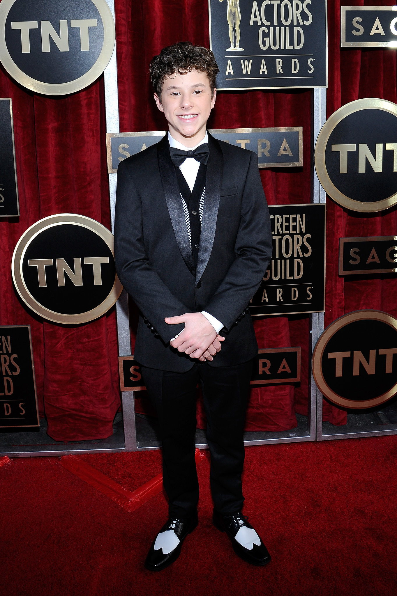 Nolan Gould posed in his bow tie.