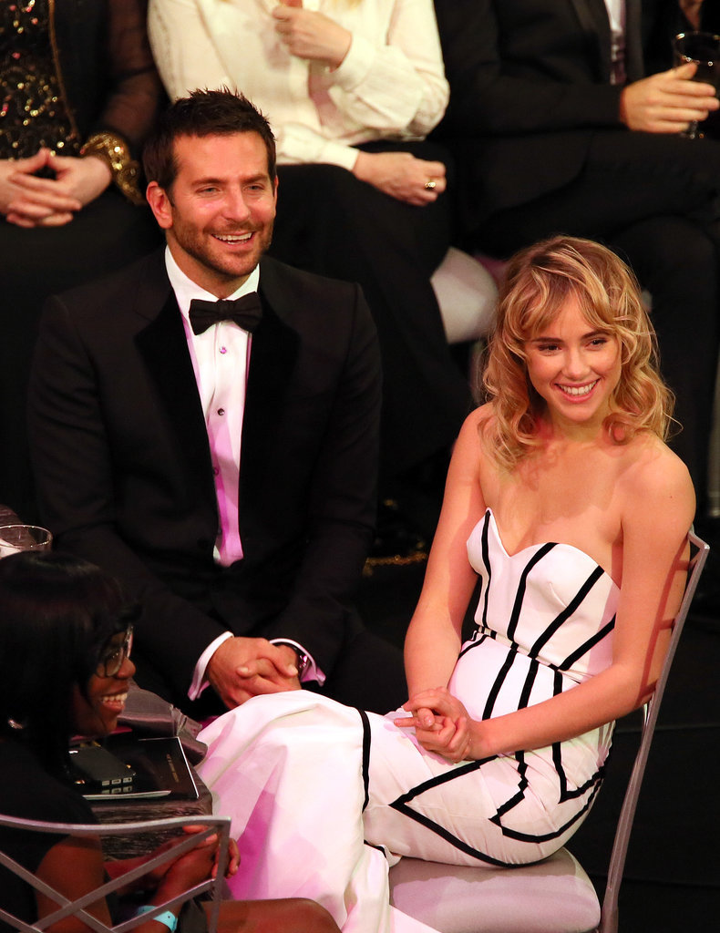 Bradley Cooper was joined by his girlfriend, Suki Waterhouse, at the SAG Awards.