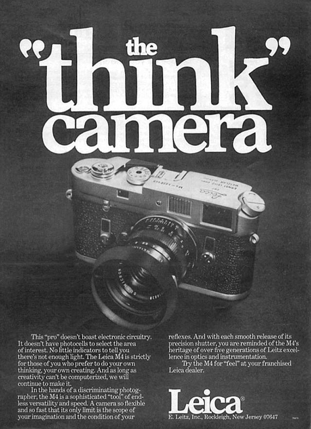 """The """"think"""" camera —aka the camera for people who don't like to shoot on auto."""