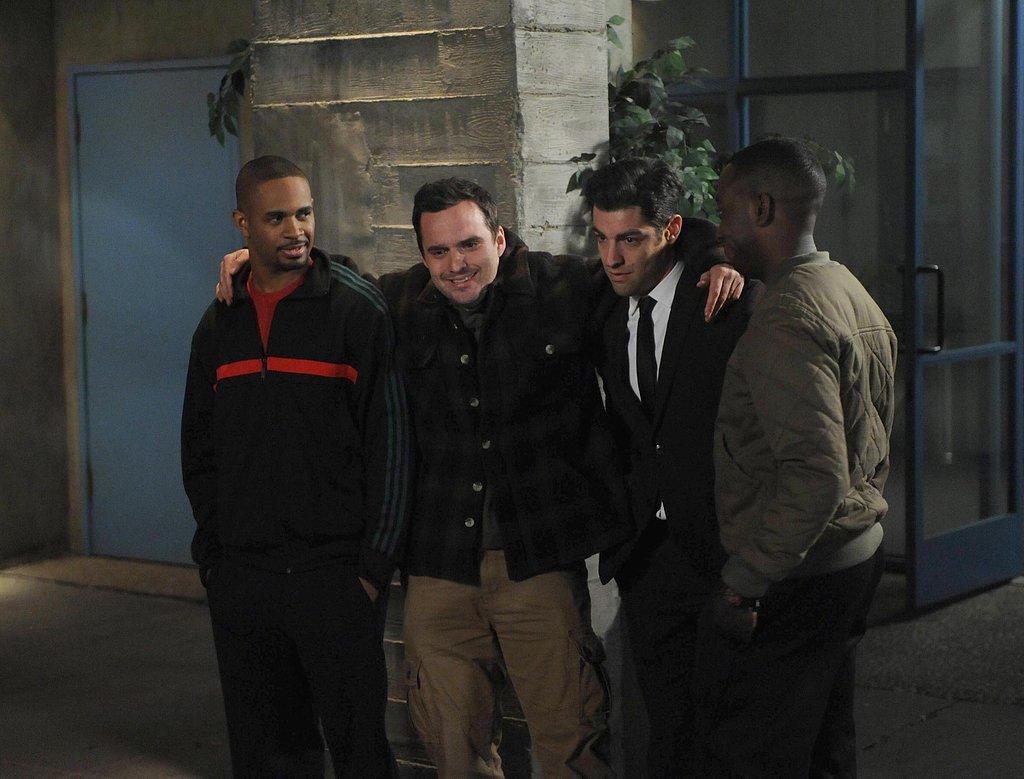 The boys share a bonding moment.