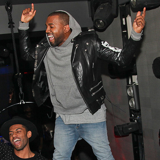 Kanye West and Robin Thicke at a Club in Paris
