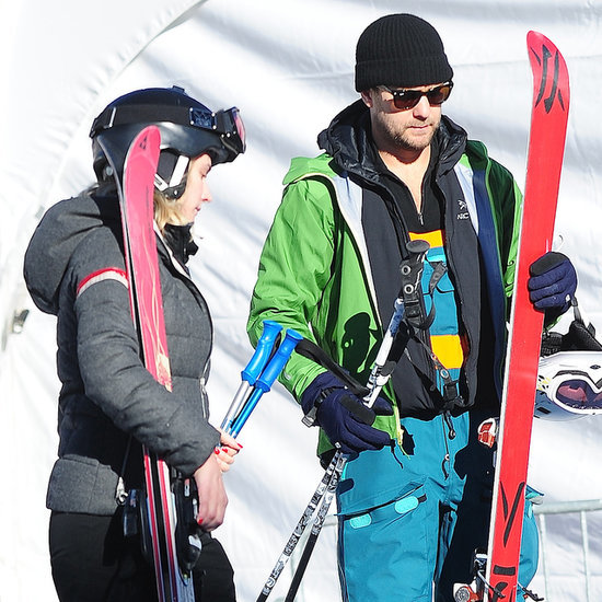 Diane Kruger and Joshua Jackson Skiing in Utah