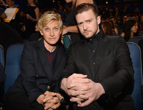 Ellen DeGeneres and Justin Timberlake buddied up at the People's Choice Awards.