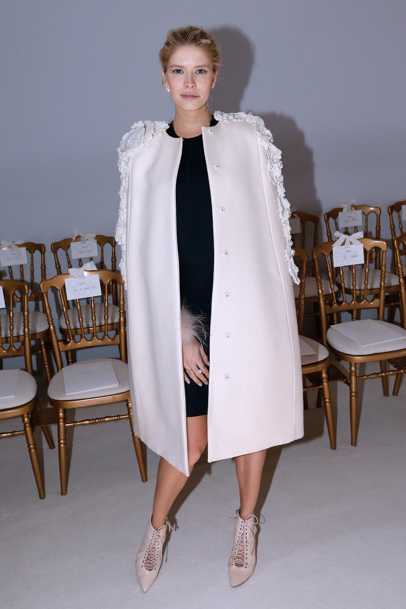 Elena Perminova at the Giambattista Valli Paris Haute Couture show.