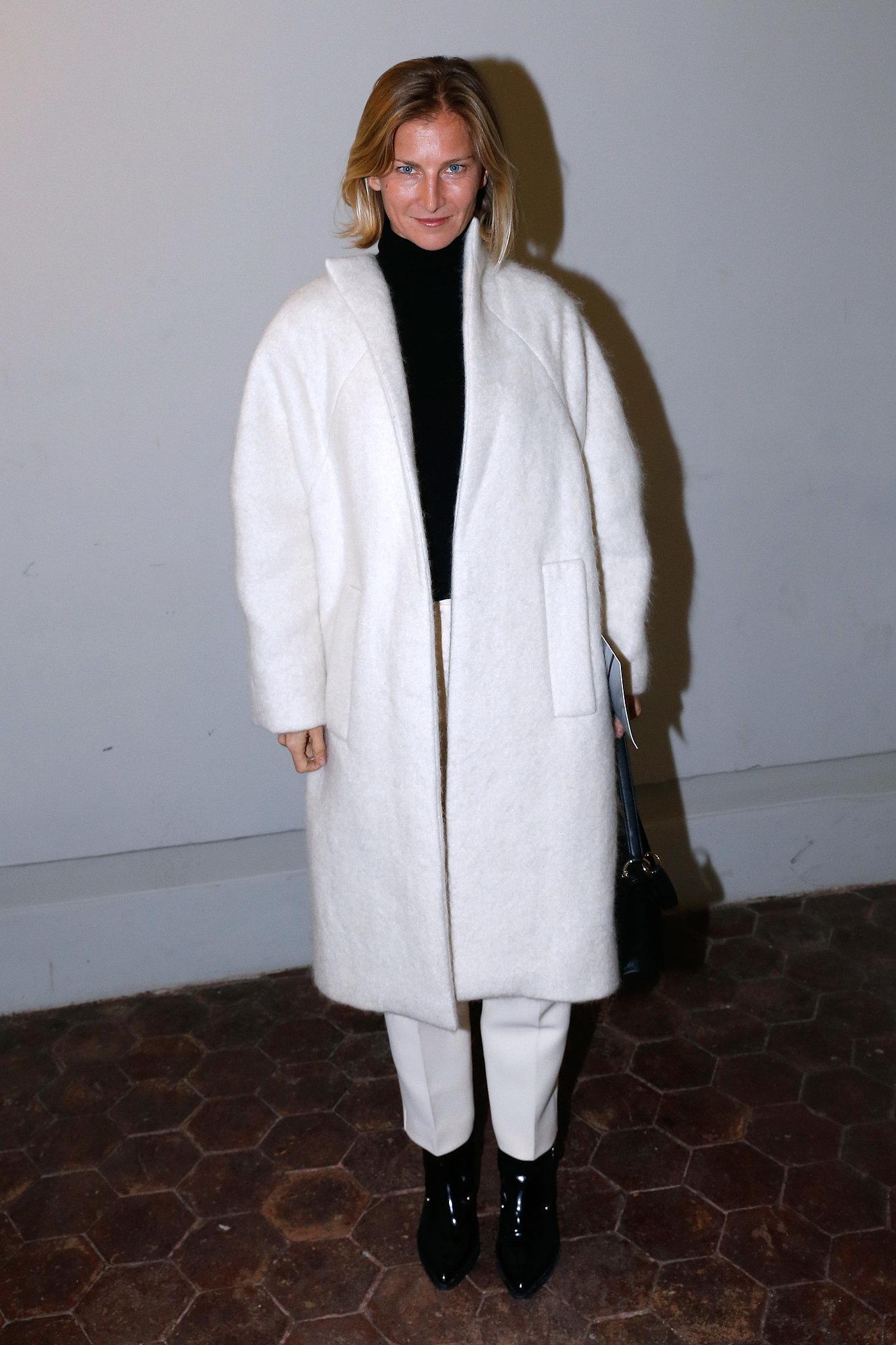 Elizabeth von Guttman at the Giambattista Valli Paris Haute Couture show.