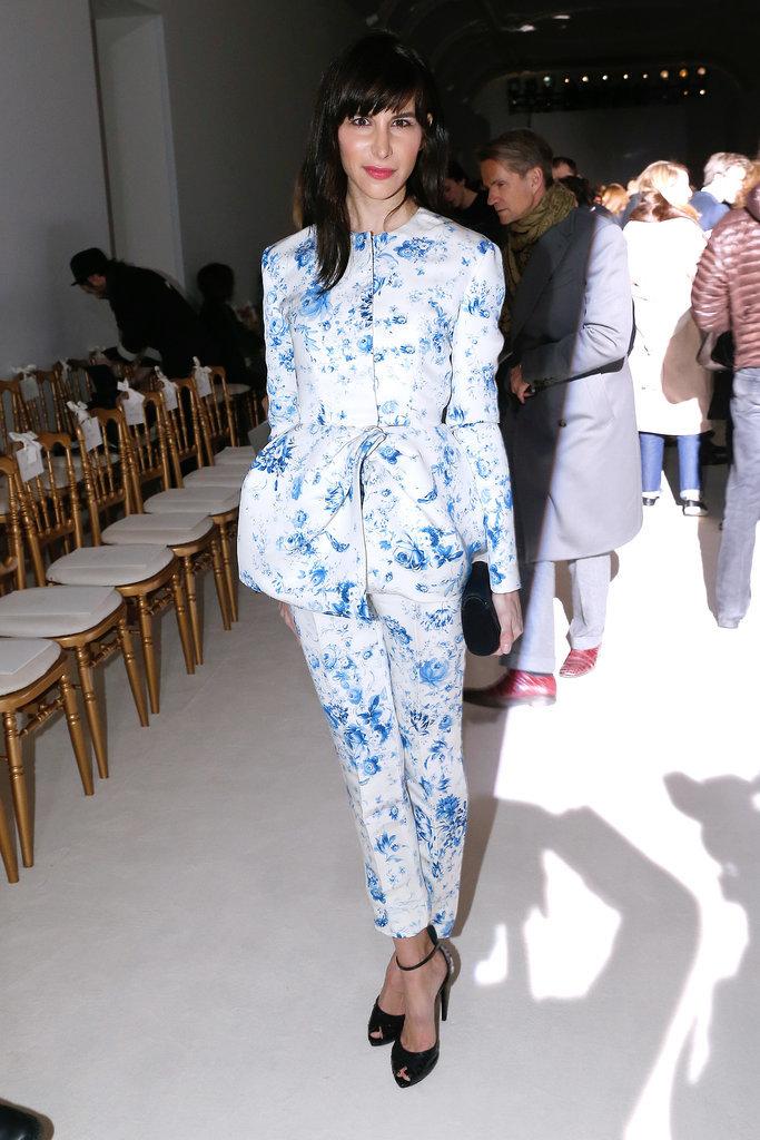 Caroline Sieber at the Giambattista Valli Paris Haute Couture show.