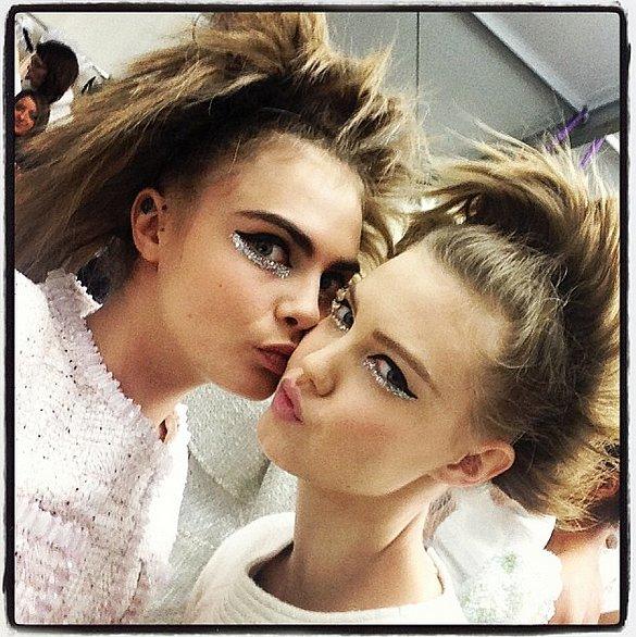 Cara Delevingne and Lindsey Wixson