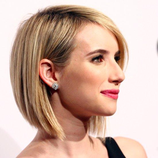 Emma Roberts Short Hair Bob 2014
