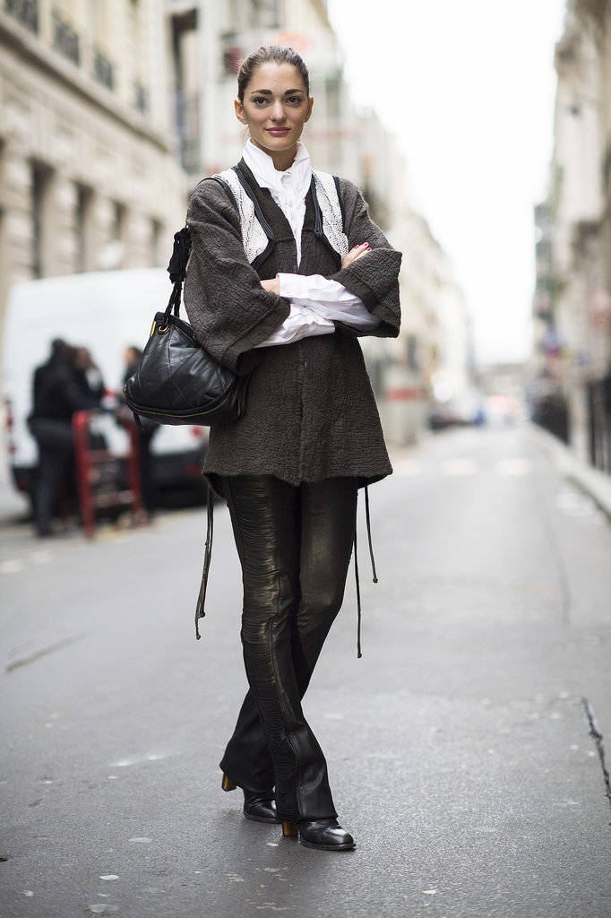 Leather flares are downright rock-and-roll. Source: Le 21ème | Adam Katz Sinding