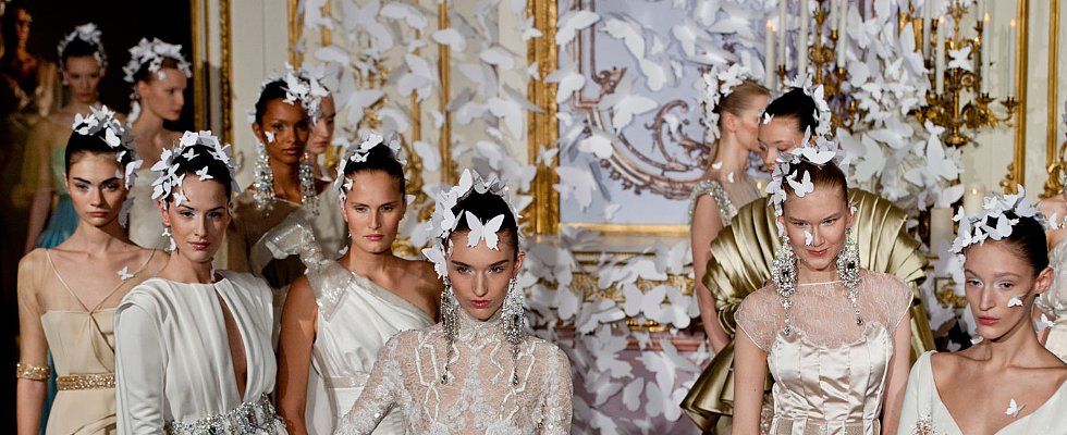Butterflies Are the Hottest Haute Couture Hair Accessory