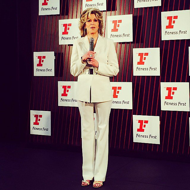 They don't come more superstar-y than Jane Fonda! The actress, activist and fitness icon was in town to relaunch Fitness First gyms. If there's anyone we'll take health tips from, it's this lady — she's 76 years old!