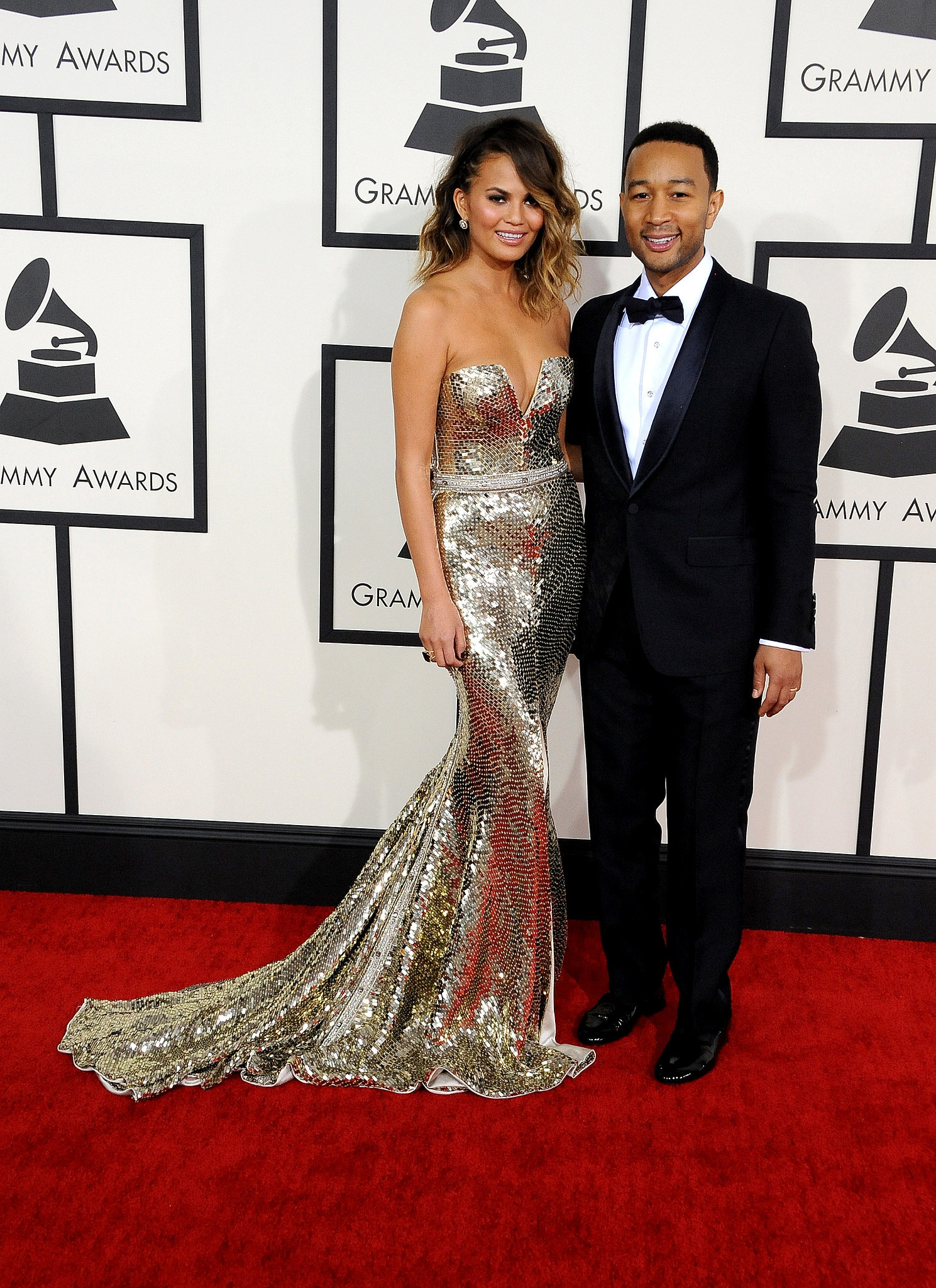 Chrissy Teigen and John Legend stunned at the Grammys.