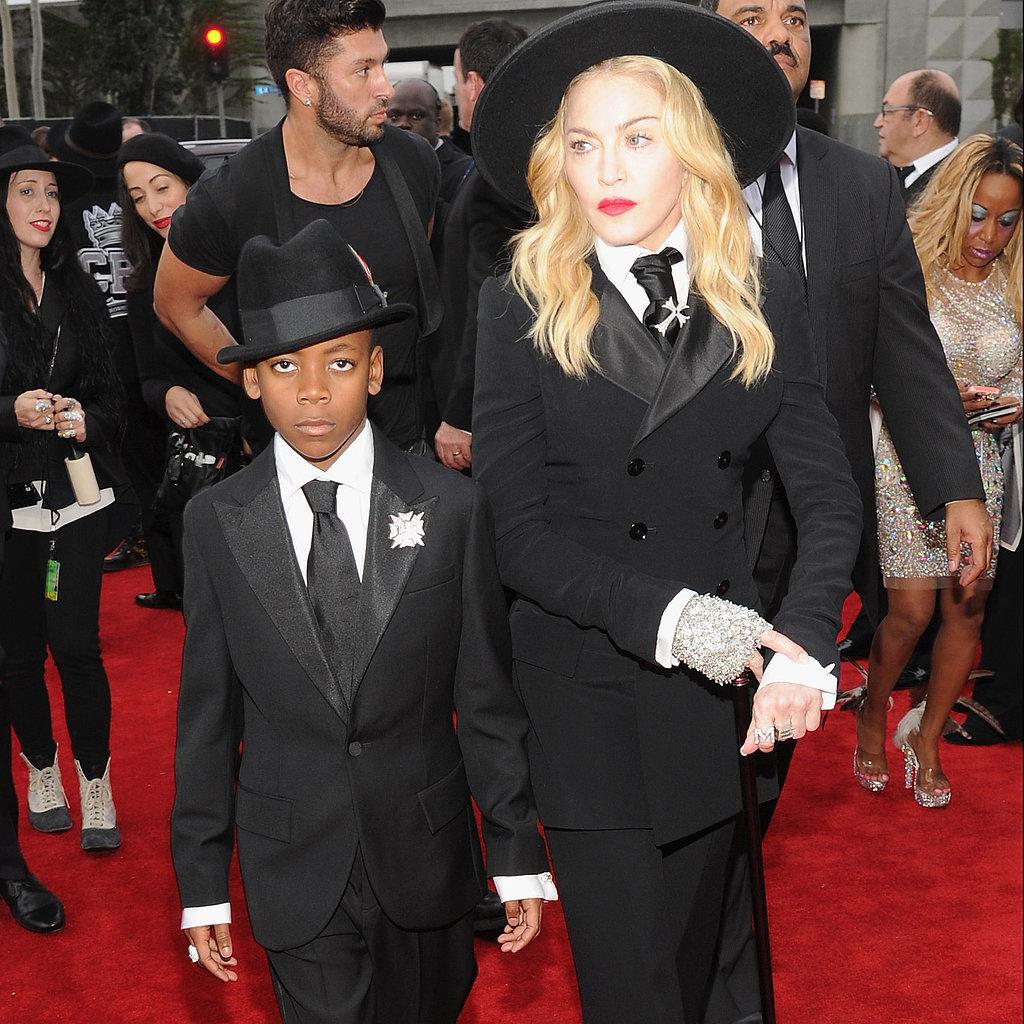 Madonna's Tuxedo at Grammys 2014