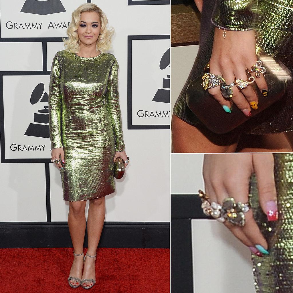 Rita Ora's Dress at Grammys 2014