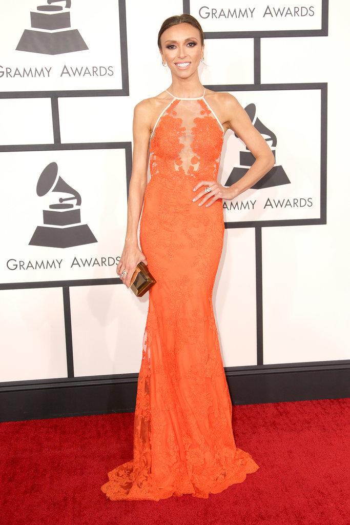 Giuliana Rancic at the Grammys 2014