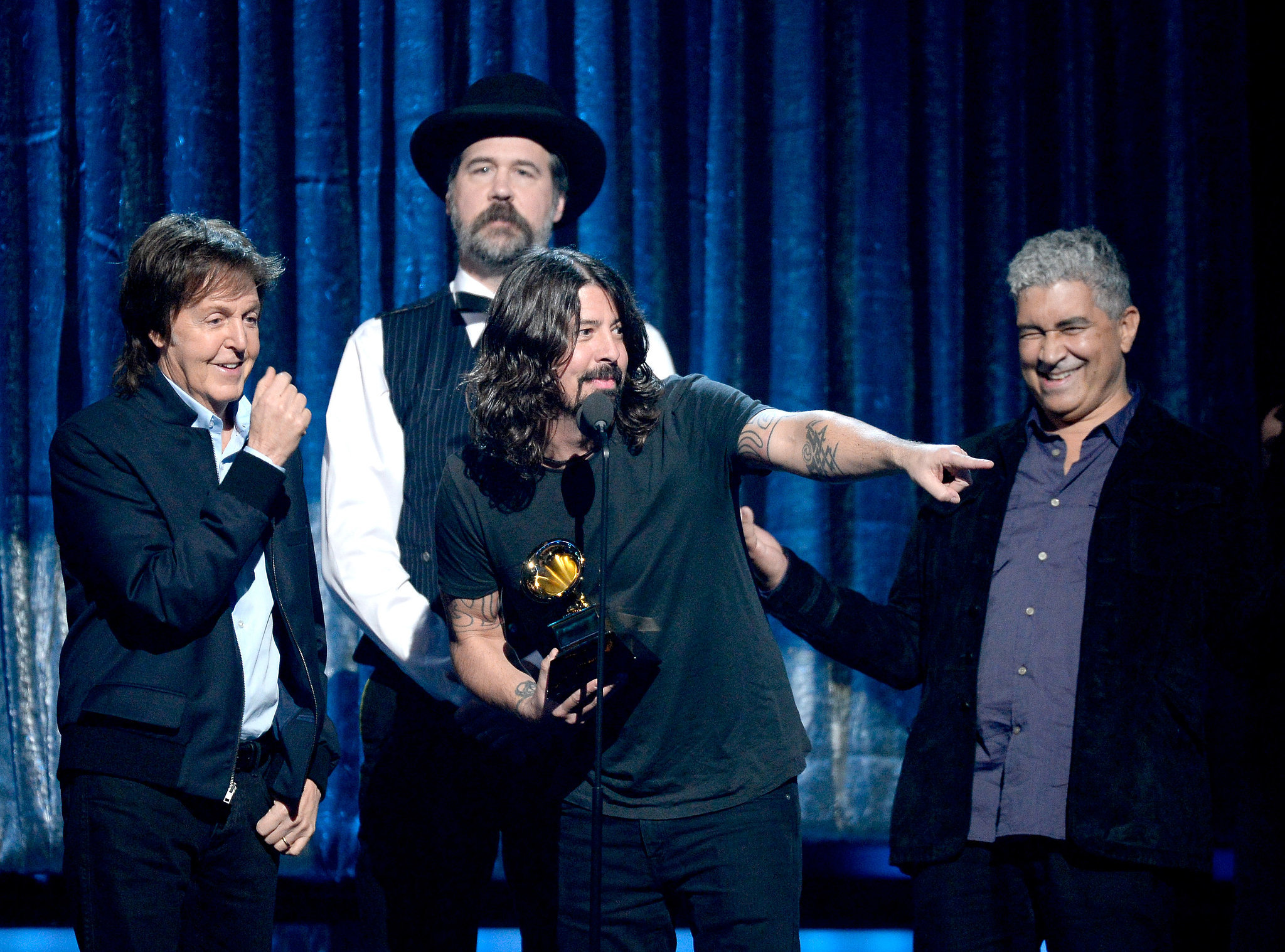 Dave Grohl, Paul McCartney, Krist Novoselic, and Pat Smear had fun accepting their award.