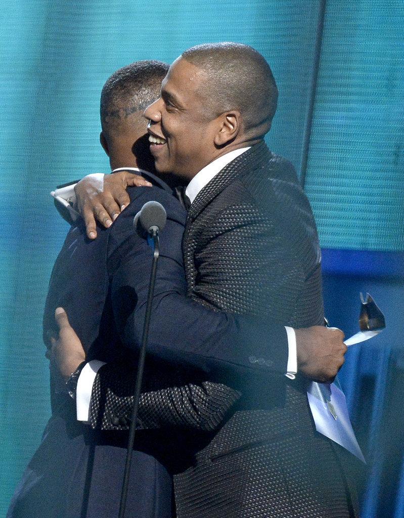 Jay Z hugged Jamie Foxx before accepting his award.