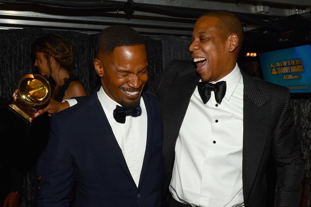 Jamie Foxx cracked up with Jay Z.